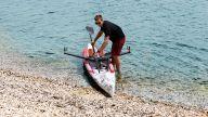 RowMotion® Rowing Skid F on Airskiff 17'(517)