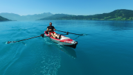 RowVista® Rowing Skid Y on AIRKAYAK 16'