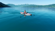 RowVista® Rowing Skid Y on AIRKAYAK 16'